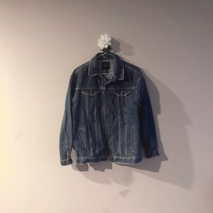F21 denim boyfriend jacket